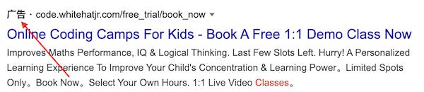 谷歌广告排名