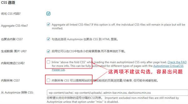 CSS 选项