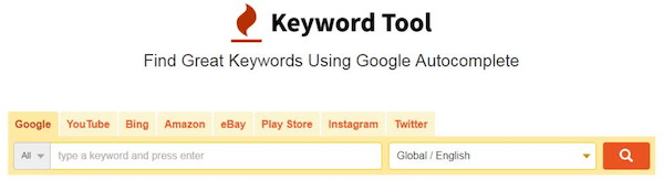Keyword Tool界面