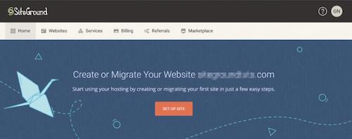 登录SiteGround账户